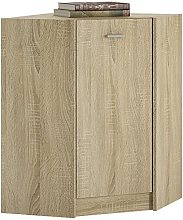 Furniture To Go Corner Cabinet, Sonama Oak