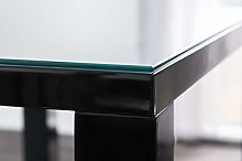 Furniturebox UK Clear Tempered Glass Dining Table