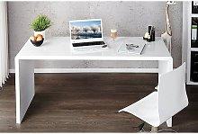 Furniturebox Uk - Enzo White High Gloss Computer