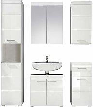 Furnline Amanda High Gloss Bathroom Furniture Set,