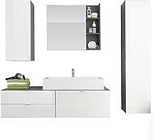 Furnline Beach High Gloss Bathroom Furniture Set,