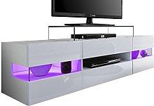 Furnline Living Room TV Stand Lowboard Sonic White