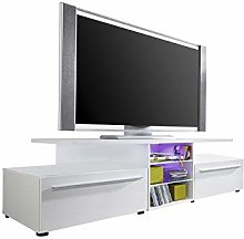 Furnline Living Room TV Unit Lowboard White High