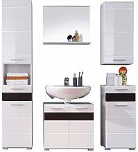 Furnline Mezzo High Gloss Bathroom Furniture Set,