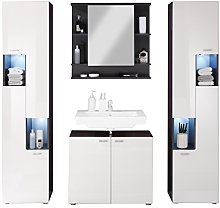 Furnline Tetis High Gloss Graphite Bathroom