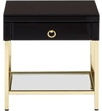 Furud Townhouse Side Table In Gold With 1 Drawer