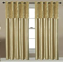 FURZON Crushed velvet Band curtains Pair Eyelet