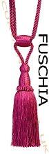 Fuschia - X2 Monaco Designer Tassel Rope Tie Back