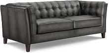 Fuselier Genuine Leather 3 Seater Chesterfield