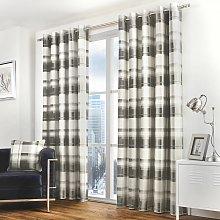 Fusion Balmoral Lined Eyelet Curtains - Grey