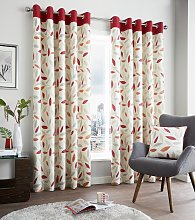 Fusion Beechwood Lined Curtains - 117x183cm - Red.