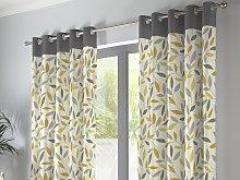 Fusion Beechwood Ochre Eyelet Curtains and Cushions