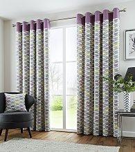 Fusion Copeland Eyelet Curtains - 168x183cm -