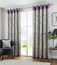 Fusion Copeland Eyelet Curtains - 229x229cm -