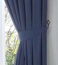 Fusion Dijon - Pair of Curtain Tiebacks, Navy, 26