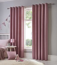 Fusion Eyelet Sorbonne Blush Curtains and Cushions