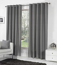 Fusion Eyelet Sorbonne Charcoal Curtains and