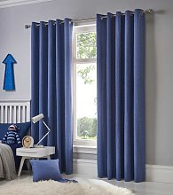 Fusion Eyelet Sorbonne Denim Curtains and Cushions