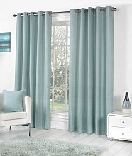 Fusion Eyelet Sorbonne Duck Egg Curtains and
