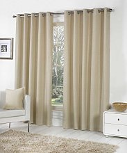 Fusion Eyelet Sorbonne Natural Curtains and