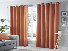 Fusion Eyelet Sorbonne Spice Curtains and Cushions