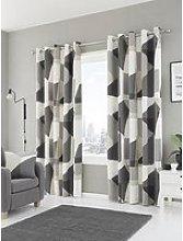 Fusion Geometra Eyelet Curtains