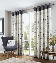 Fusion Idaho Eyelet Curtains - 117x183cm -
