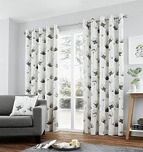Fusion Kiera Lined Curtains - 168x183cm - Grey