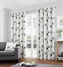 Fusion Kiera Lined Curtains - 229x229cm - Grey