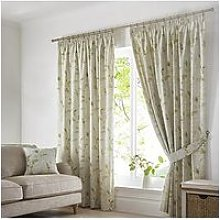 Fusion Meadow Leaves Pencil Pleat Curtains