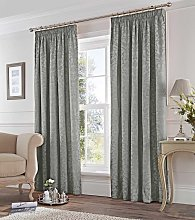 Fusion Pencil Pleat Eastbourne Silver Curtains and