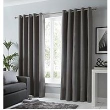 Fusion Sorbonne Lined Eyelet Curtains