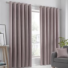 Fusion Strata Dim Out Woven Eyelet Curtains -