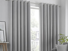 Fusion Strata Silver Lined Eyelet Curtains and