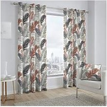 Fusion Tropical Eyelet Curtains
