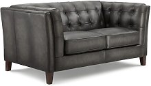 Fuson Leather 2 Seater Chesterfield Sofa Williston