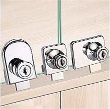 Futie Door Barrel Lock Household Hole-Free Glass