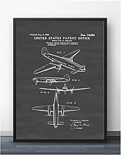 FUXUERUI 1939 Lockheed Airplane Patent Canvas Wall