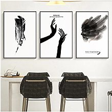 FUXUERUI Abstract Feather Canvas Wall Art Print