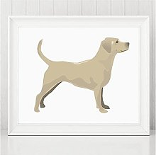 FUXUERUI Animal Dog Canvas Wall Art Print Poster