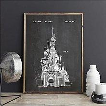 FUXUERUI Castle Patent Design Wall Art Picture