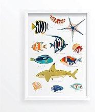 FUXUERUI Fiji Sea Life Print Under the Sea Picture