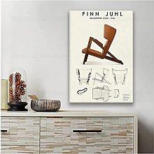 FUXUERUI Finn Juhl Chair design Danish Furniture