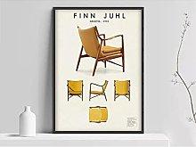 FUXUERUI Finn Juhl Scandinavian Design Chair Wall
