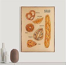 FUXUERUI Food Bread Wall Art Picture Canvas