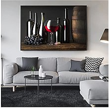 FUXUERUI Grape Wine Canvas Wall Art Print Poster
