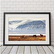 FUXUERUI Icelandic Horse Canvas Wall Art Print
