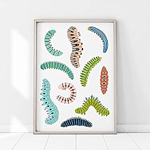 FUXUERUI Insect Bugs Wall Art Picture Canvas
