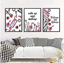 FUXUERUI Makeup Fashion Canvas Wall Art Print