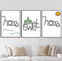 FUXUERUI Scandinavian Home Quote Canvas Wall Art